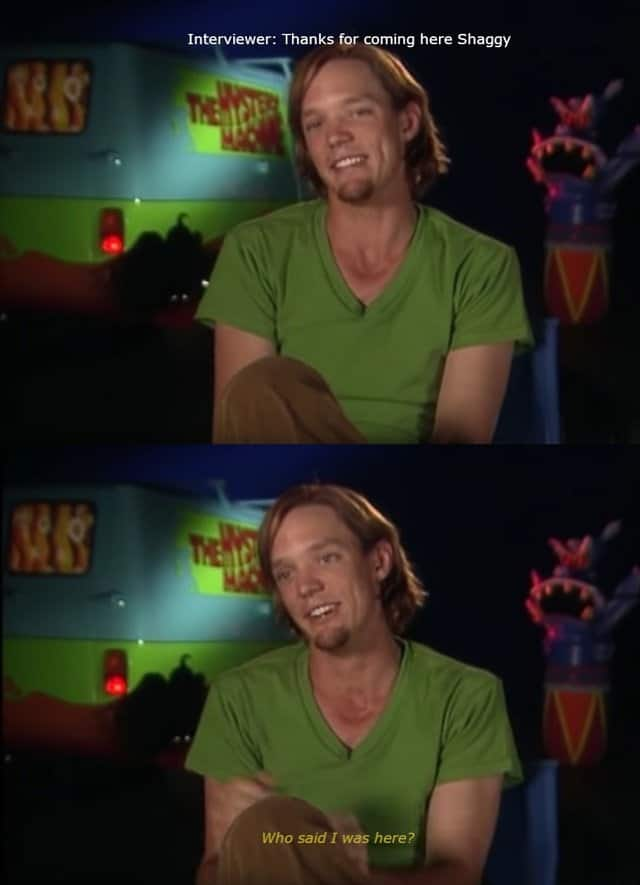 Shaggy are you challenging me