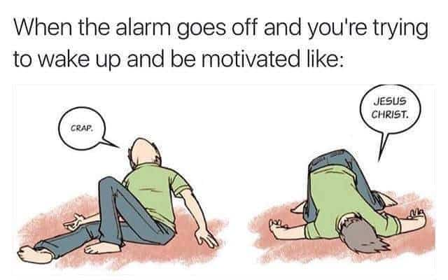 alarm relatable meme