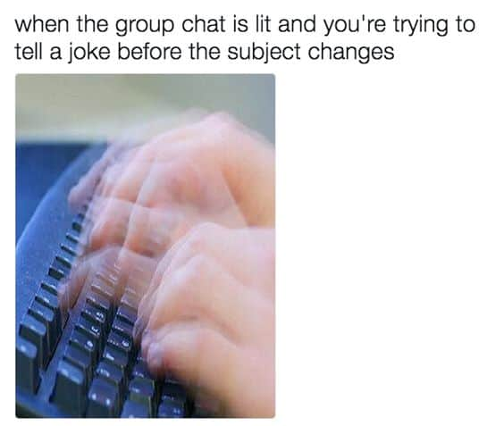 group chat relatable meme