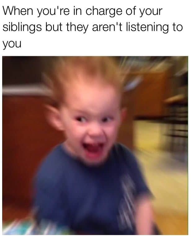 siblings relatable meme