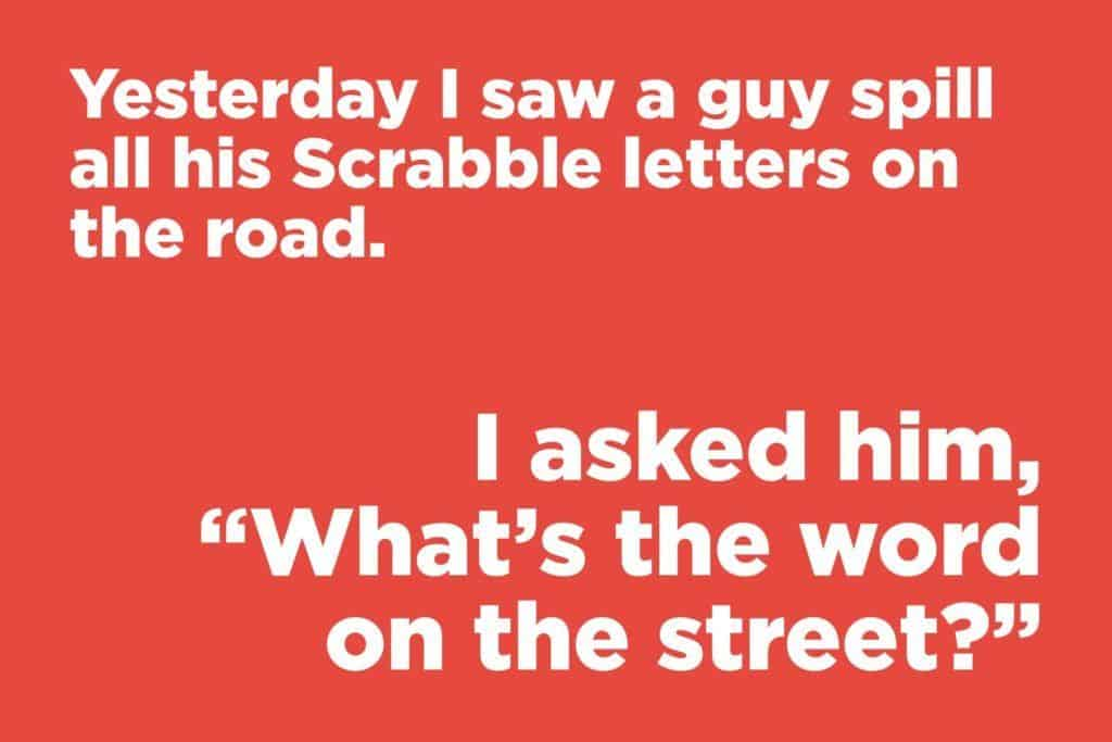 letter on the road jokes