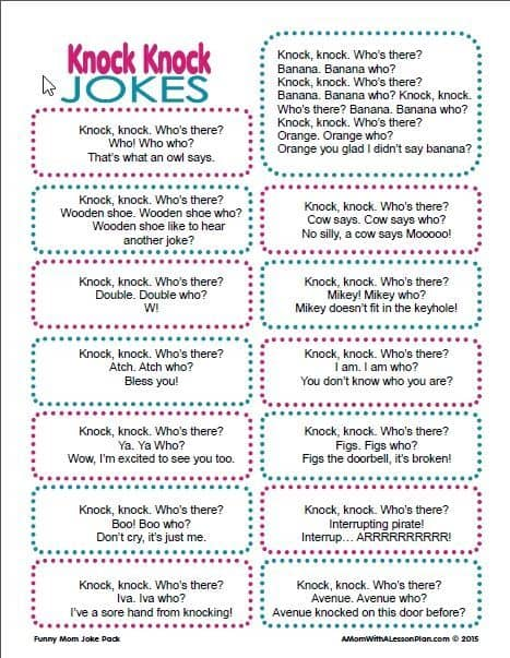 16 Knock Knock Jokes For Kids Tongue Twisters 6