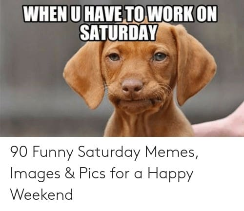 Saturday Memes when u have toworkon saturday 90 funny saturday memes images 52236431