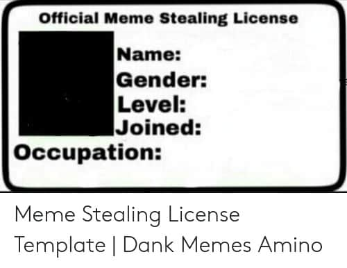 33 Meme Stealing License 1 1