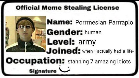 33 Meme Stealing License 27
