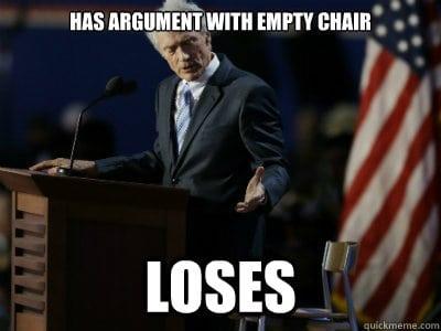 19 Clint Eastwood Empty Chair Meme 11