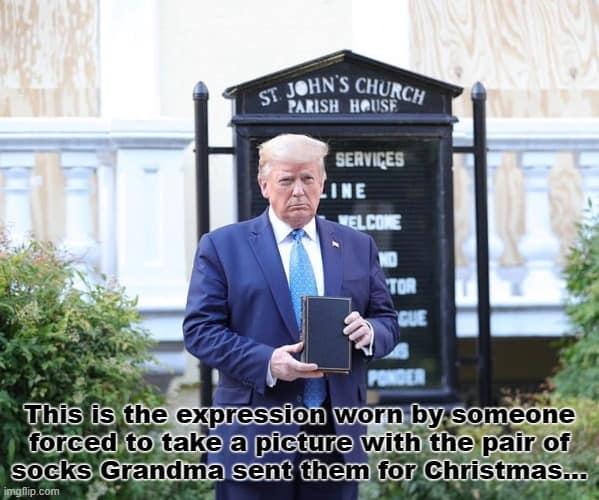 27 Trump Holding Bible Meme 5