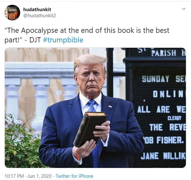 27 Trump Holding Bible Meme 9