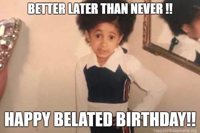 33 belated birthday meme 13