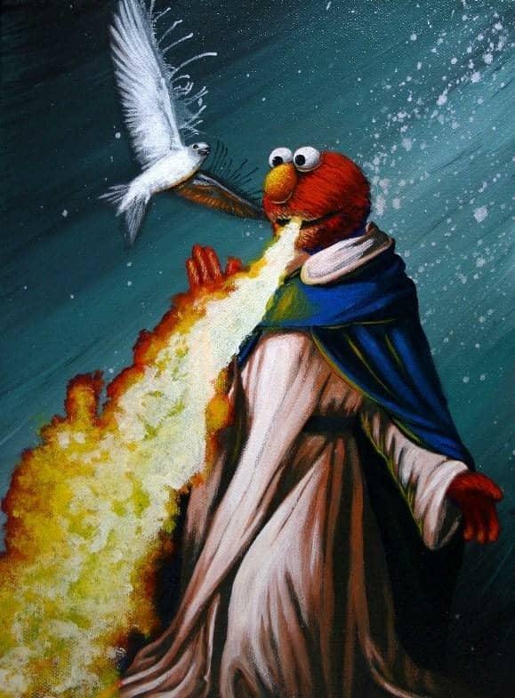 Elmo Fire Meme 11
