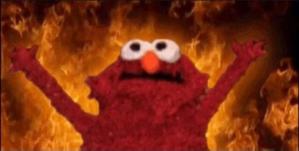 Elmo Fire Meme 7