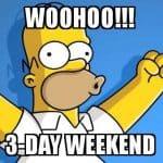 3 day weekend meme 17